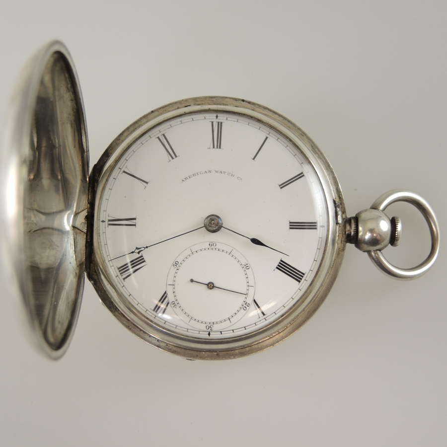 Silver Waltham Civil War era pocket watch c1864