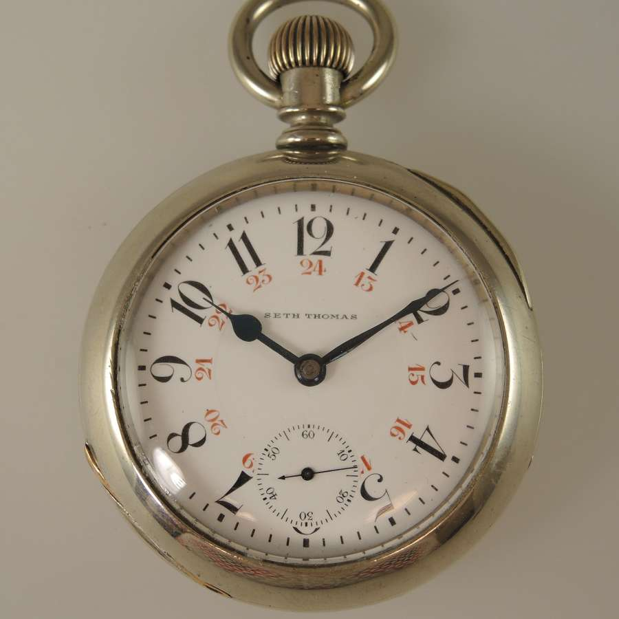 18 size 17 Jewel Two Tone Seth Thomas pocket watch c1890