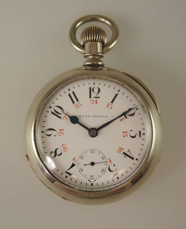 18 size 17 Jewel Two Tone Seth Thomas pocket watch c1890