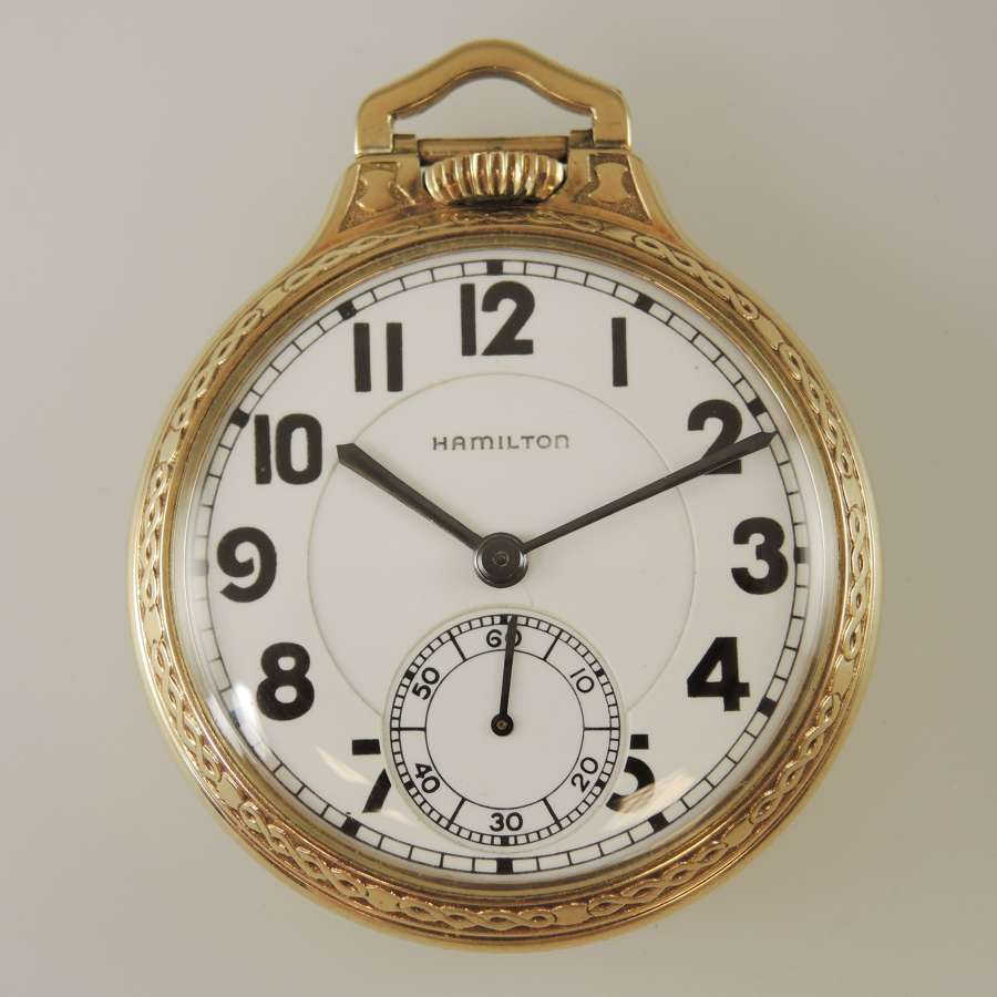 16s 23 Jewel Hamilton 950E Railroad pocket watch c1936