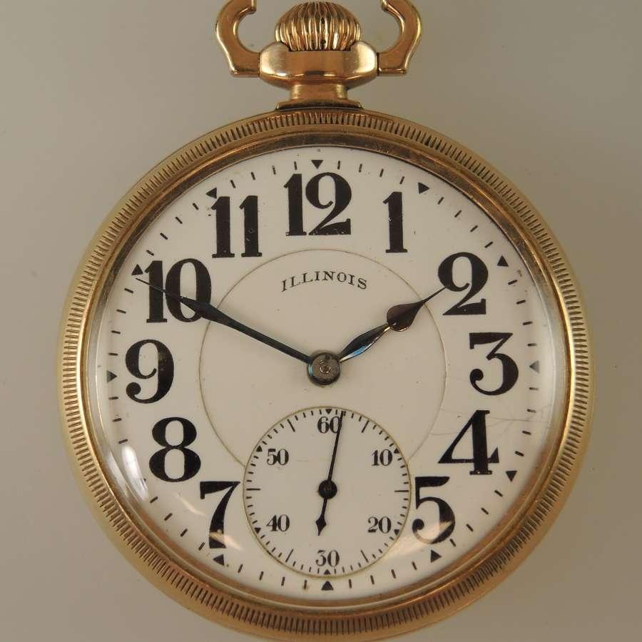 16 size 23 Jewel Illinois Bunn Special Pocket watch c1917
