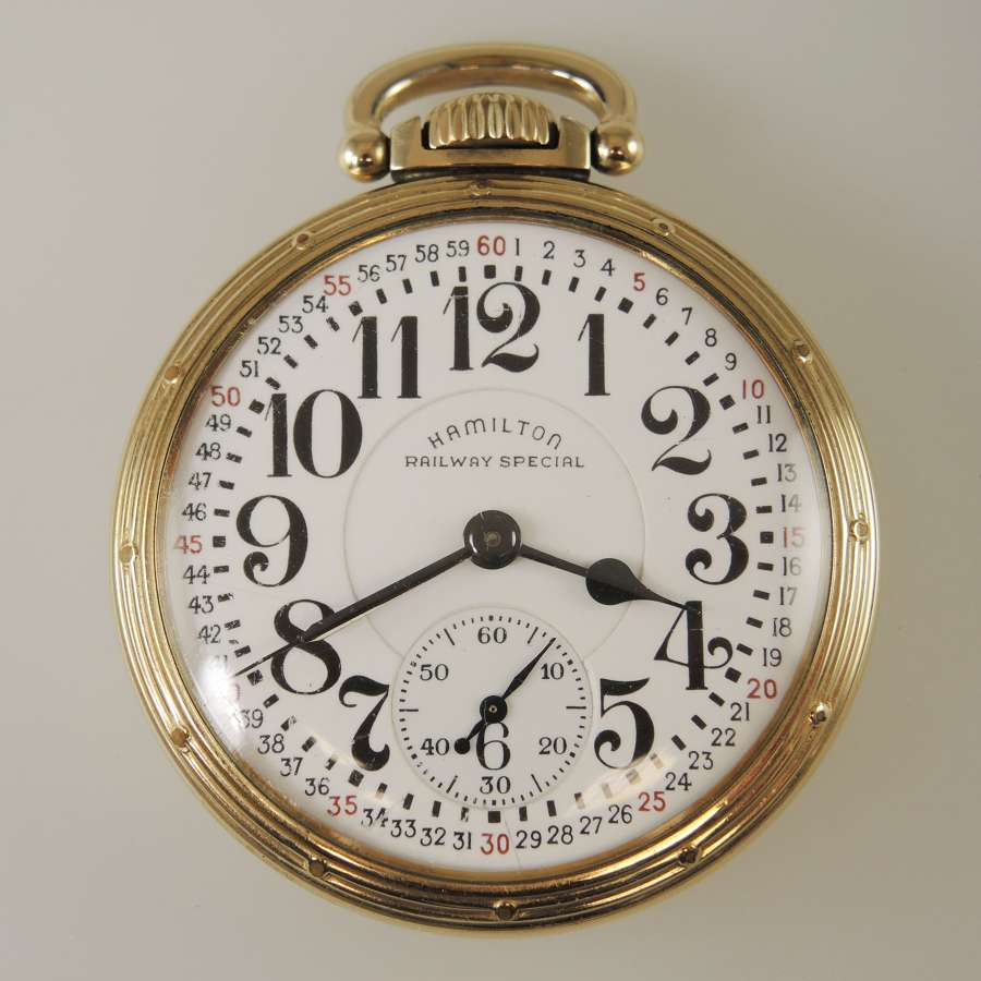 16 Size 23 Jewel Hamilton 950B Pocket watch c1951