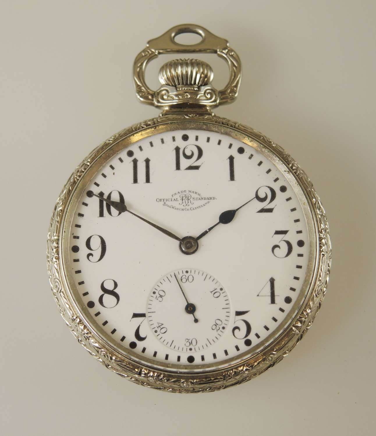 16 Size 23 Jewel 999N Ball Hamilton Pocket Watch c1915