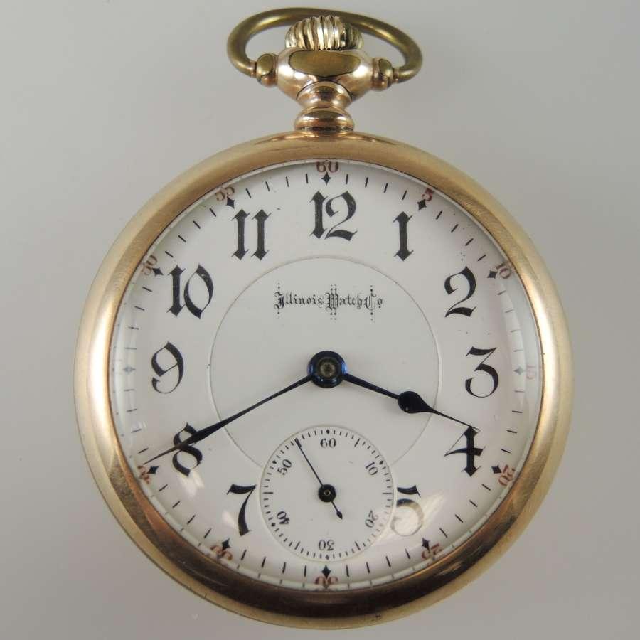 18s 24 Jewel Illinois Bunn Special pocket watch c1900