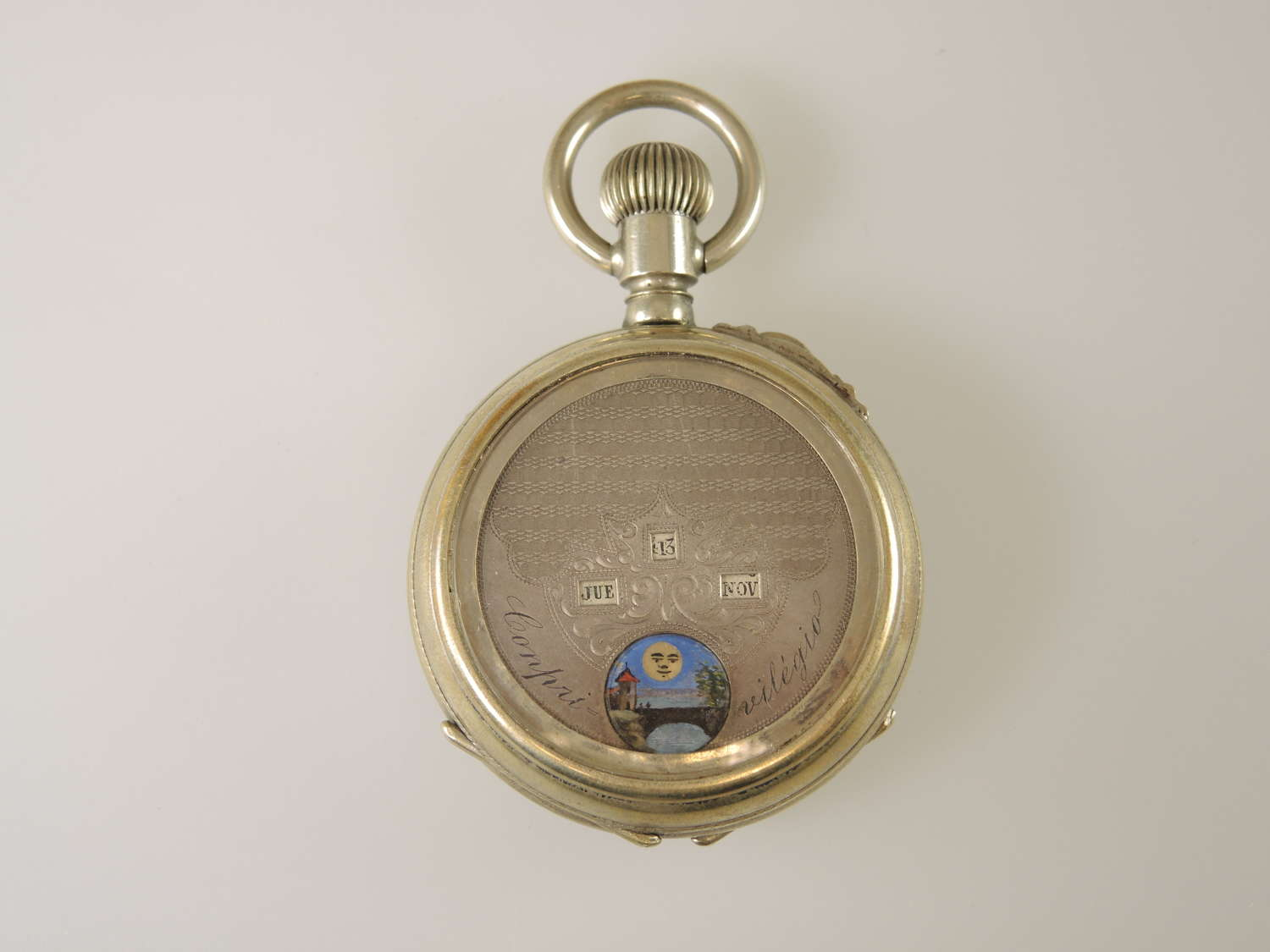 Swiss Double sided MOONPHASE pocket watch c1890