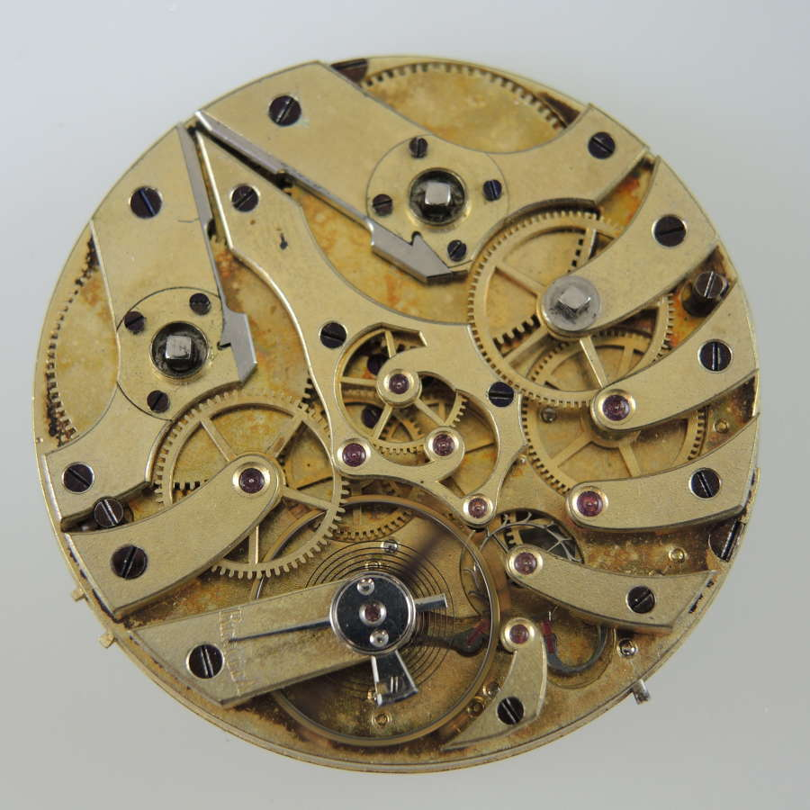 Independent seconds pocket watch movement c1850