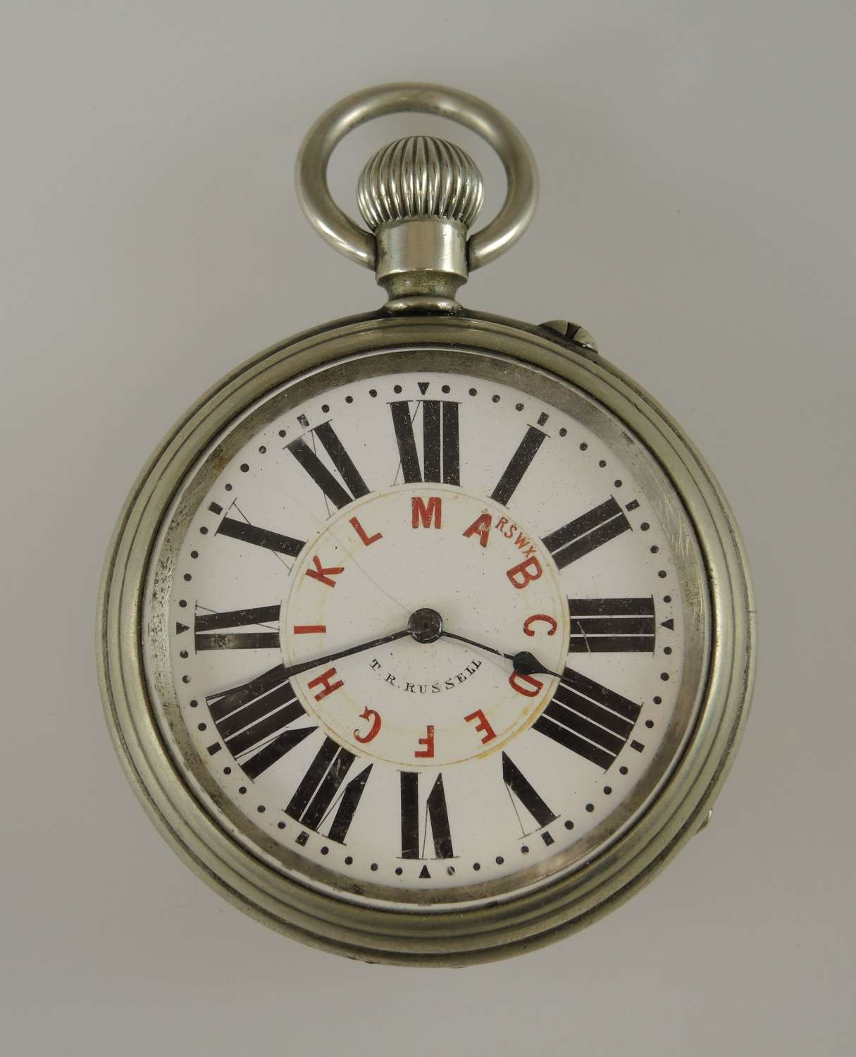 Rare TELEGRAPHIC WIRE dial pocket watch c1915