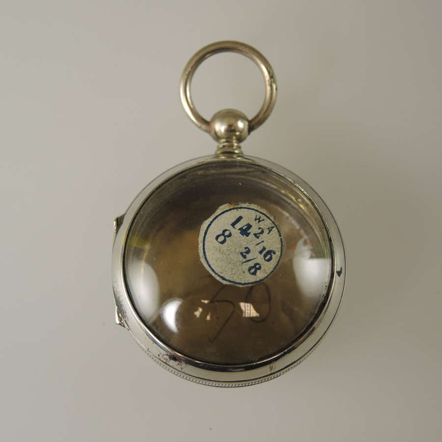 Gilt metal pocket watch case Suitable for pendant or locket also c1850