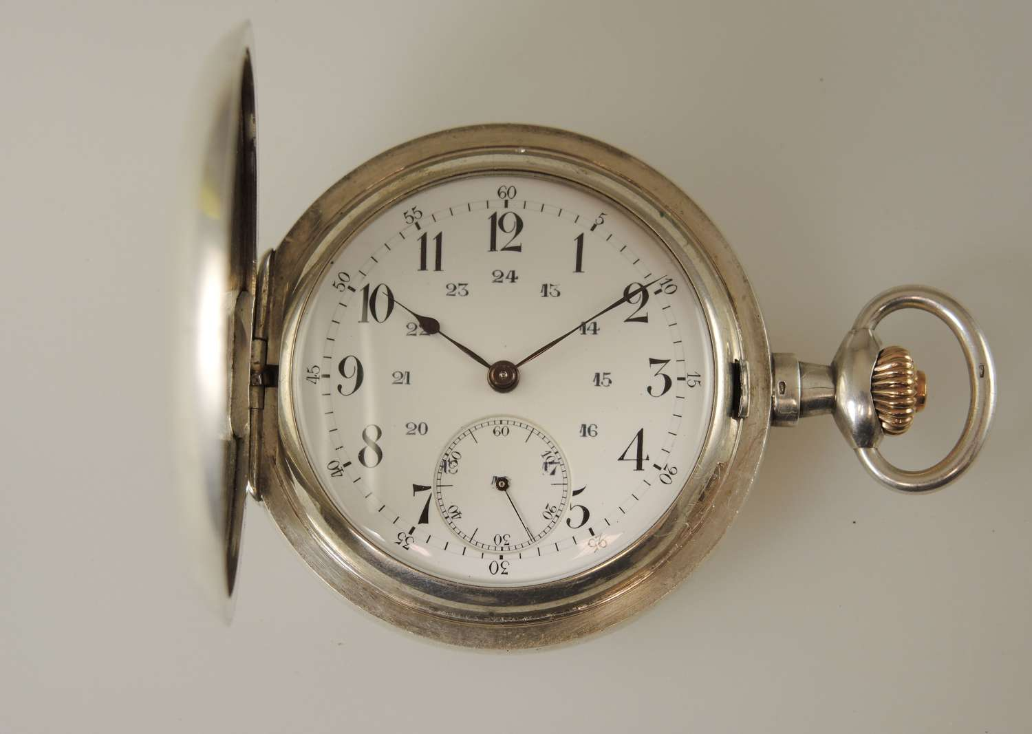 High quality 20 jewel silver hunter pocket watch c1910