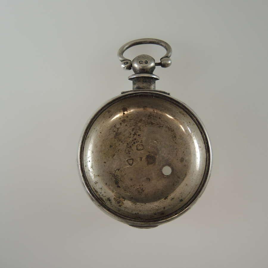 English silver inner case. London 1870
