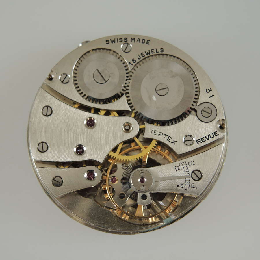 Good quality VERTEX hunter pocket watch movement c1920