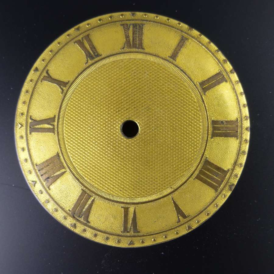 English Gilt metal dial c1810