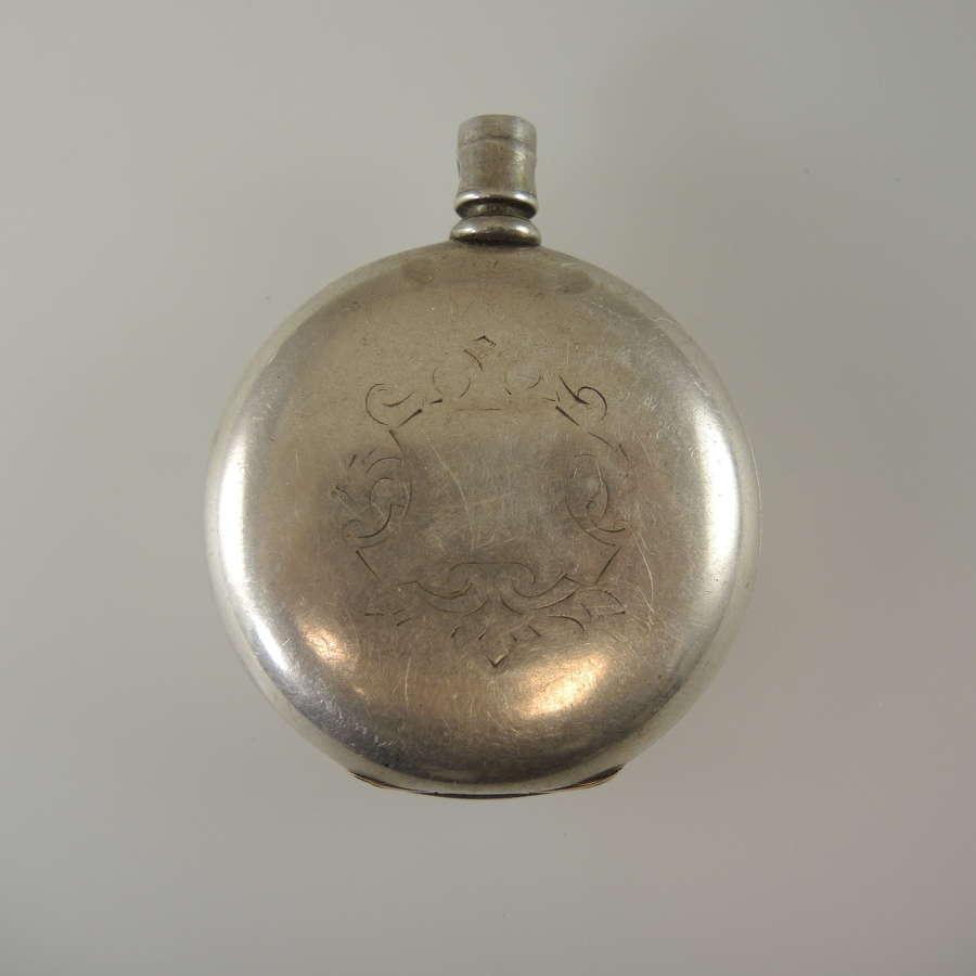 Massive 60mm American coin silver case c1890