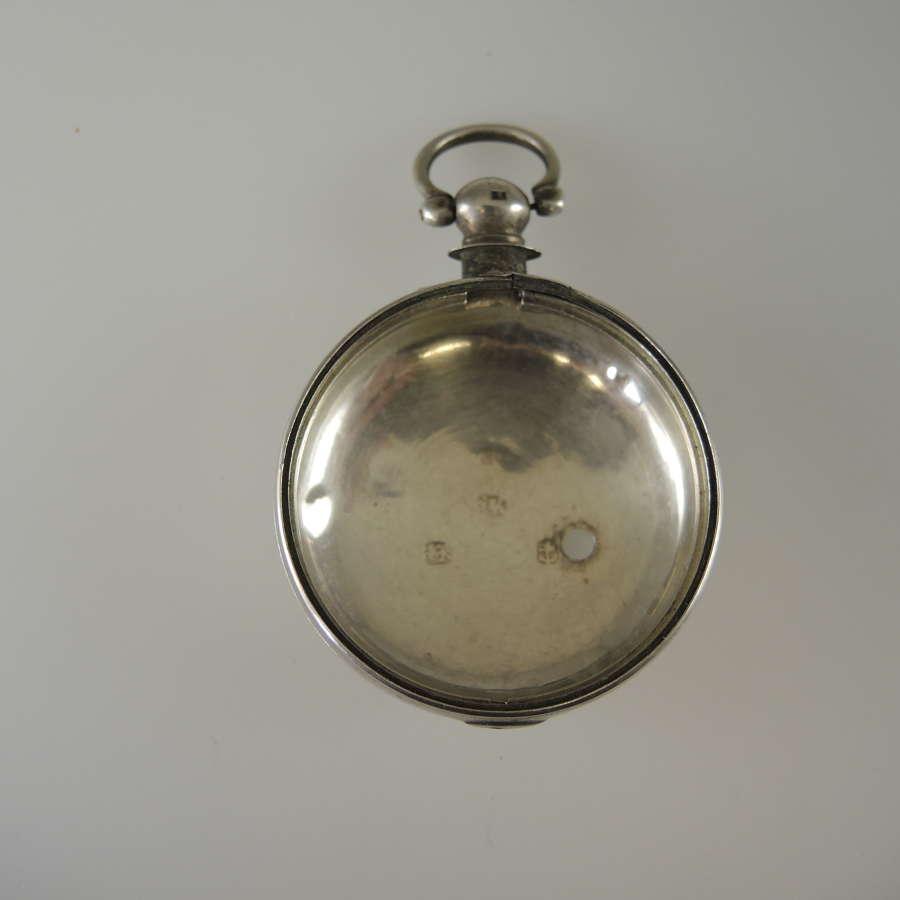 English silver KW verge inner case Birmingham 1830