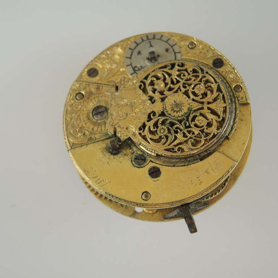 English verge fusee movement c1810