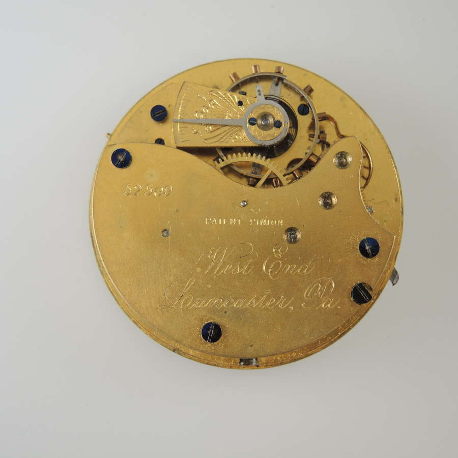 18s 11J Lancaster, PA pocket watch movement c1886
