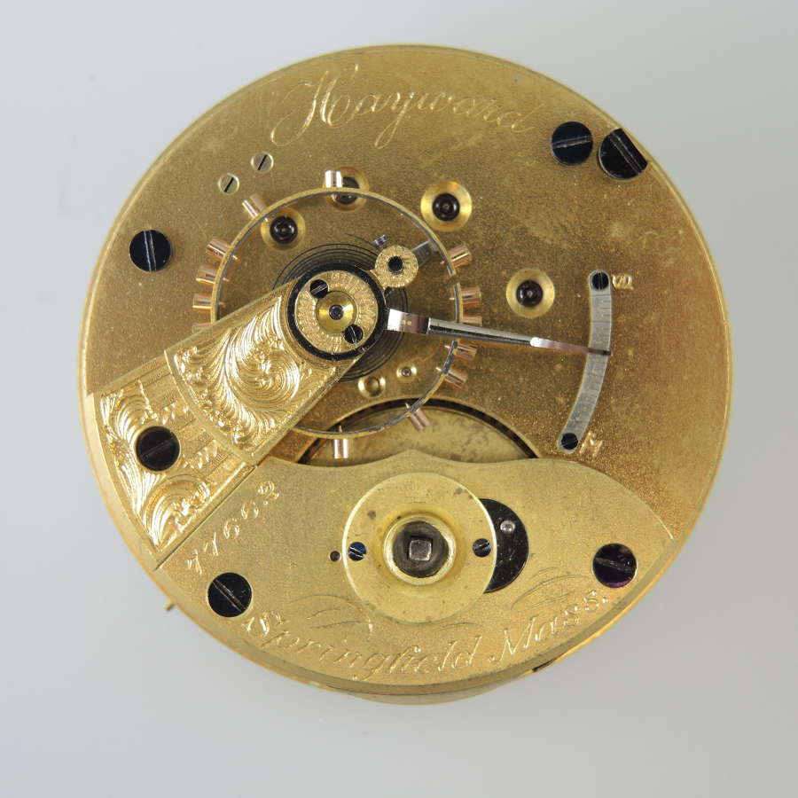 18s 11J Hampden HAYWARD pocket watch movement c1877