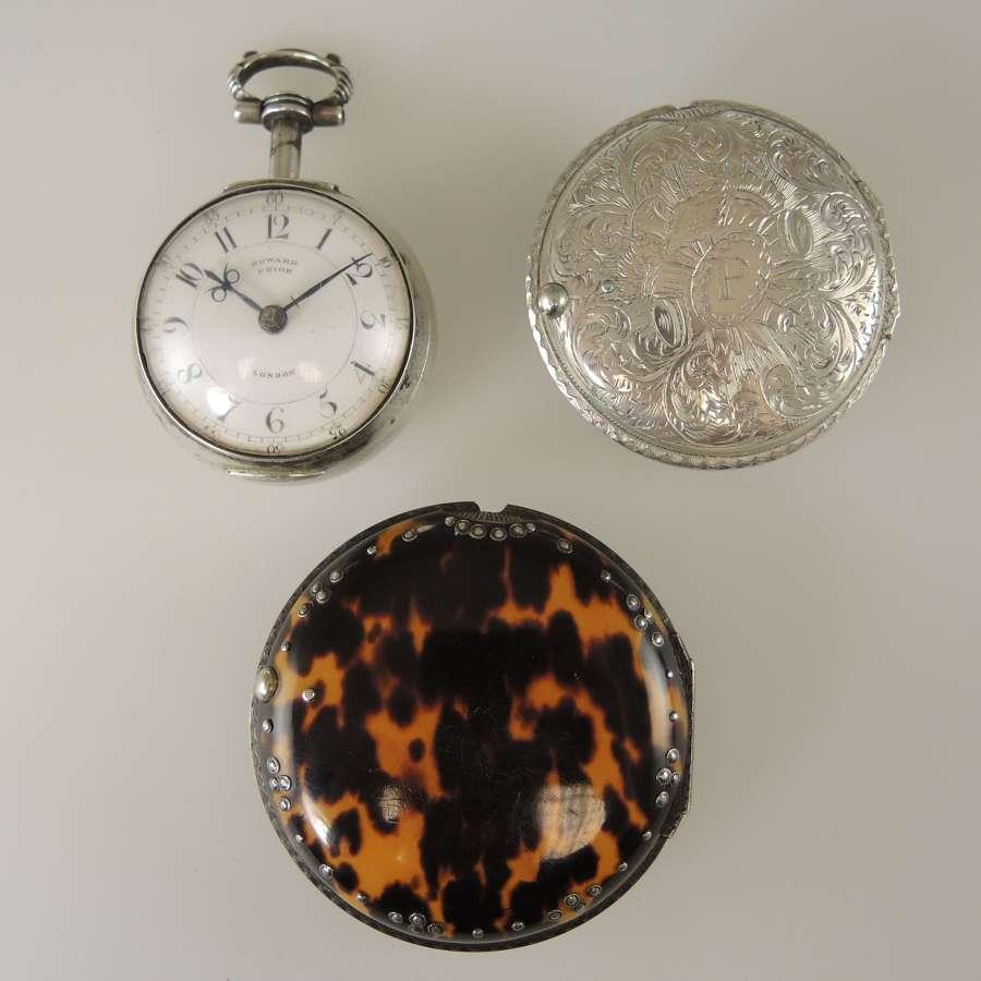Superb Turkish market triple case pocket watch. E Prior, London 1875