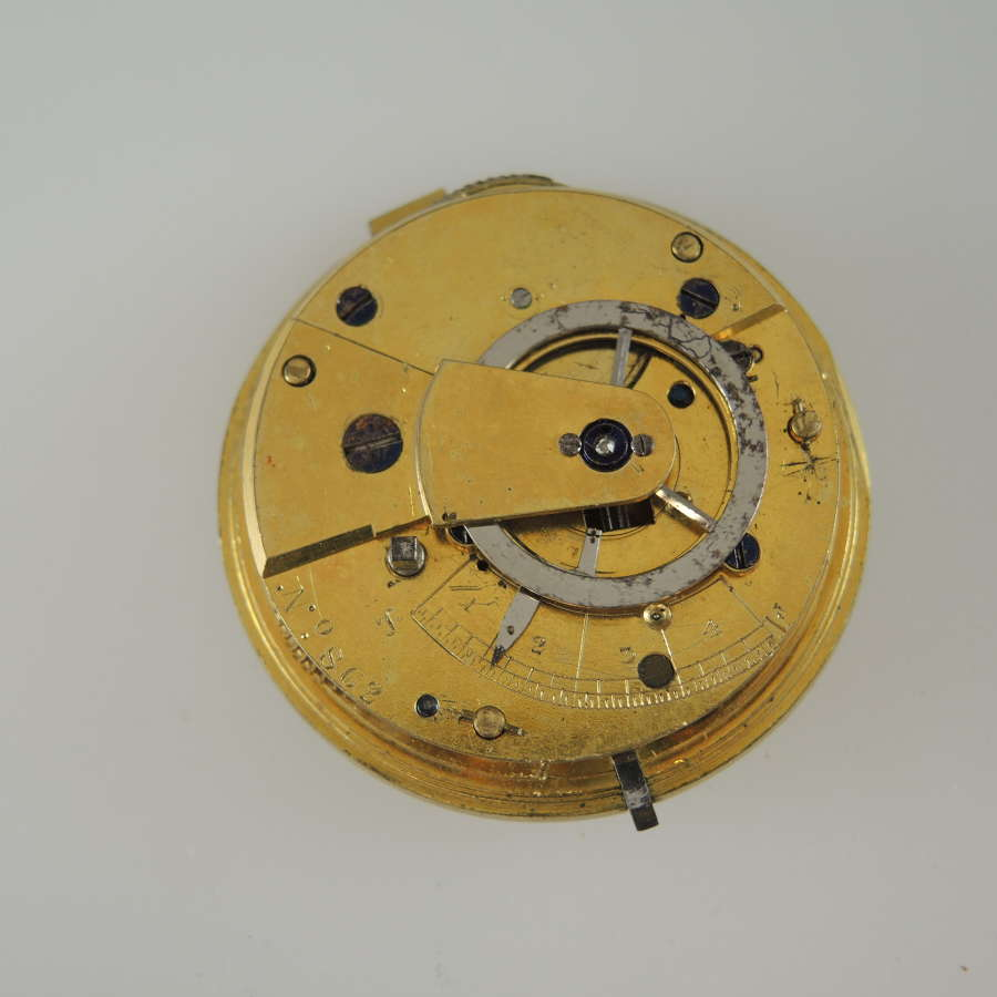 English verge fusee movement c1830