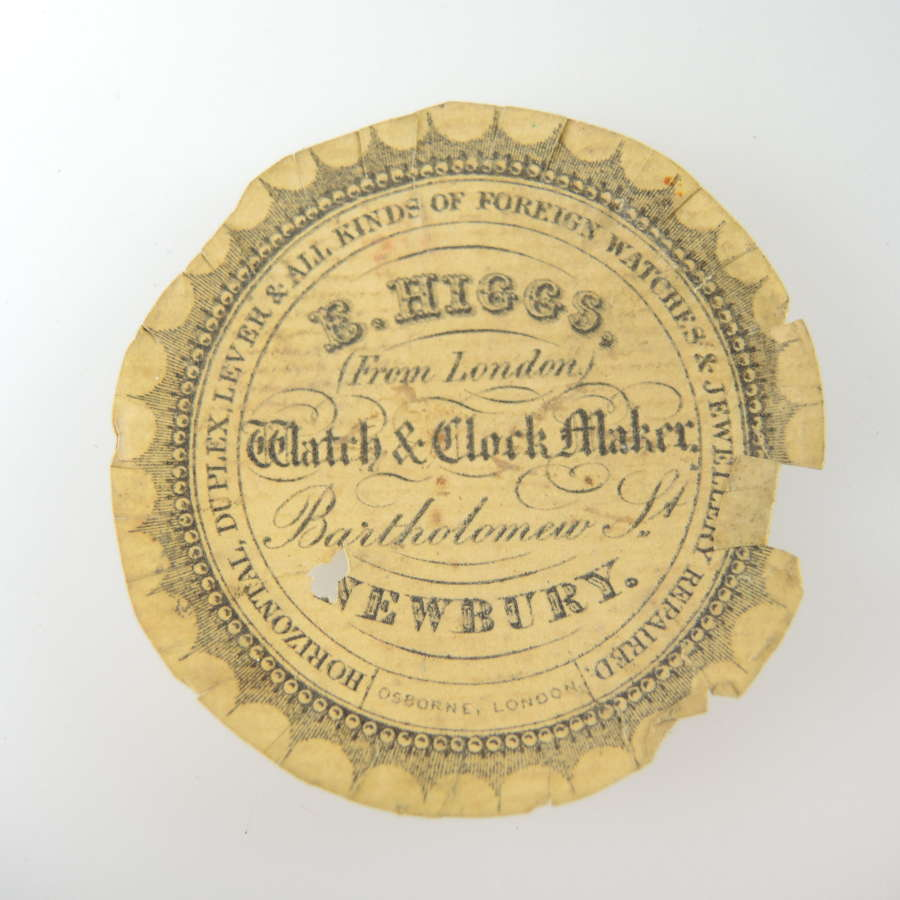 English advertising watch paper.c1850