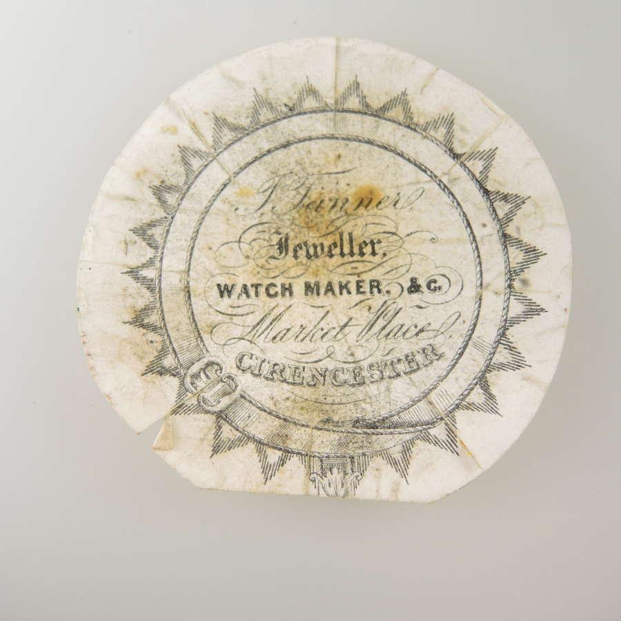 English advertising watch paper.c1820