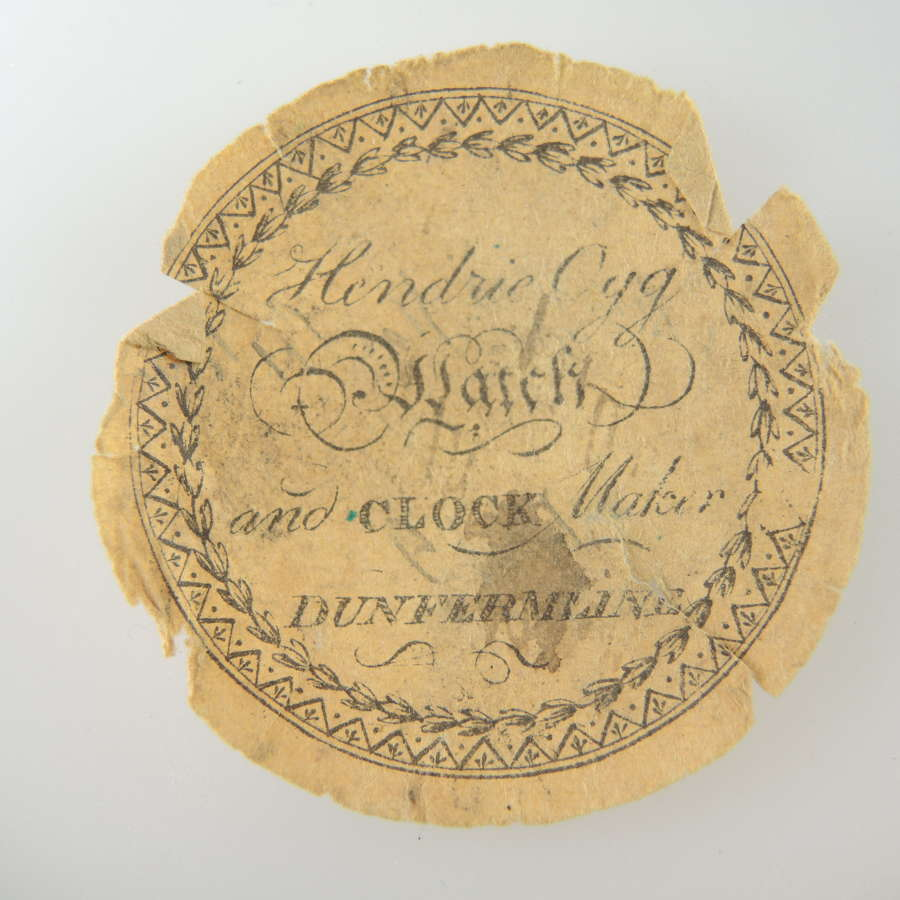 Scottish advertising watch paper.c1820