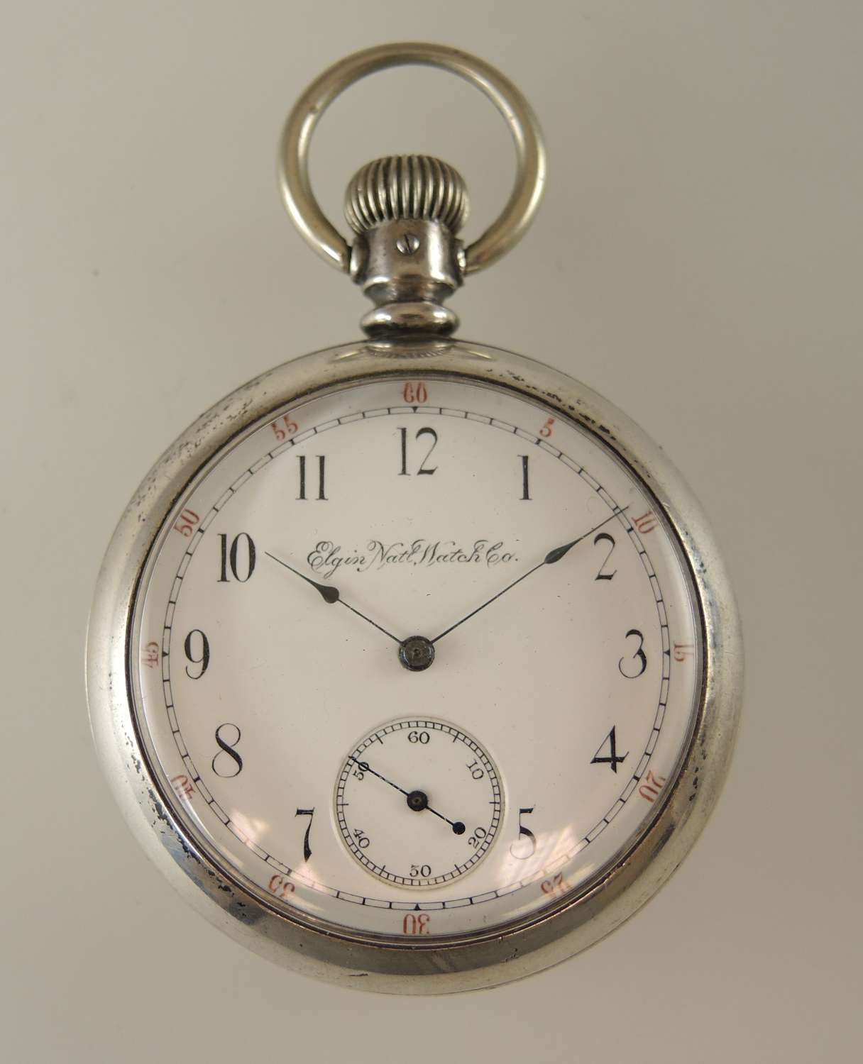 Rare Elgin pocket watch with a convertible movement. c1891