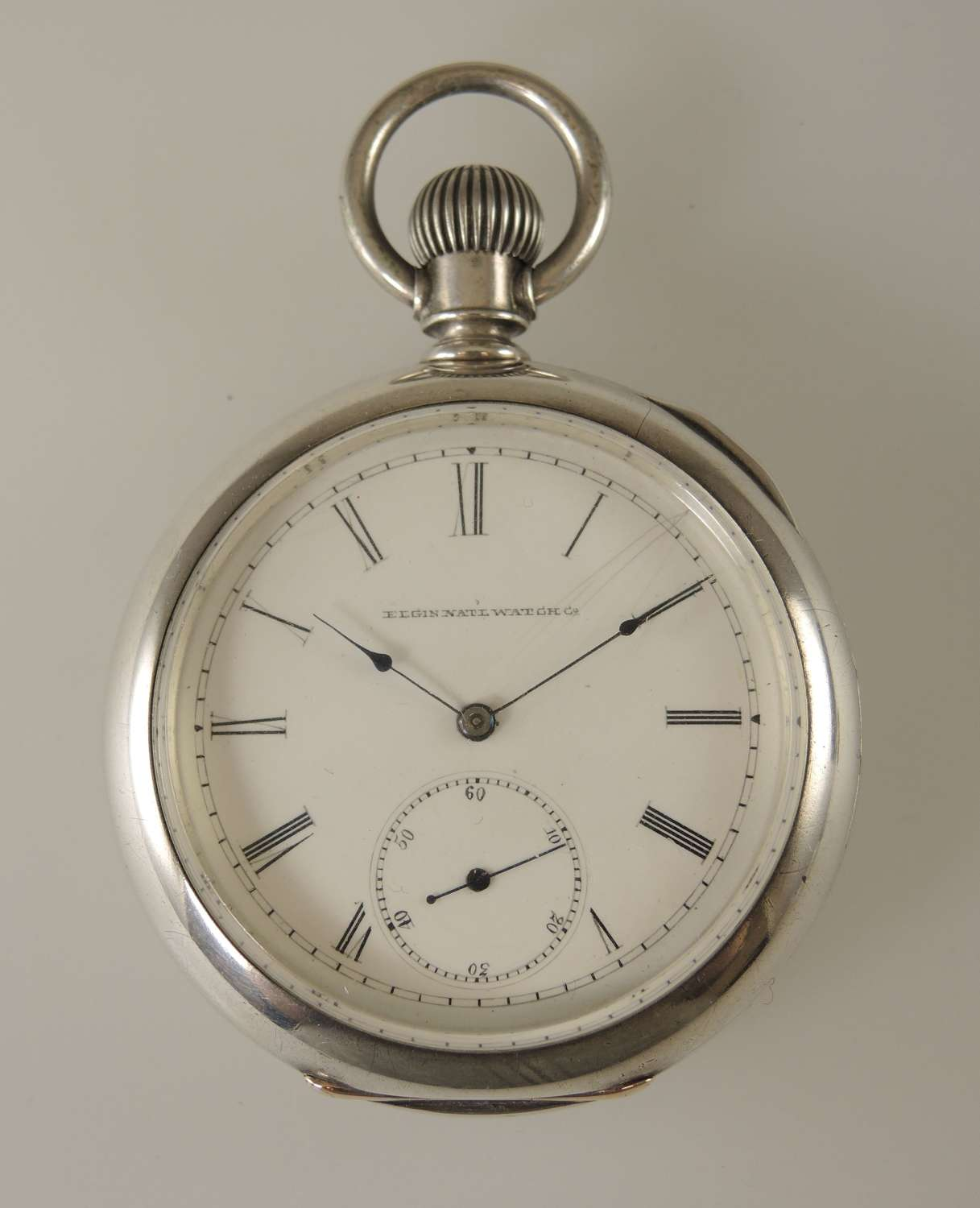 Rare Elgin pocket watch with a convertible movement. c1883