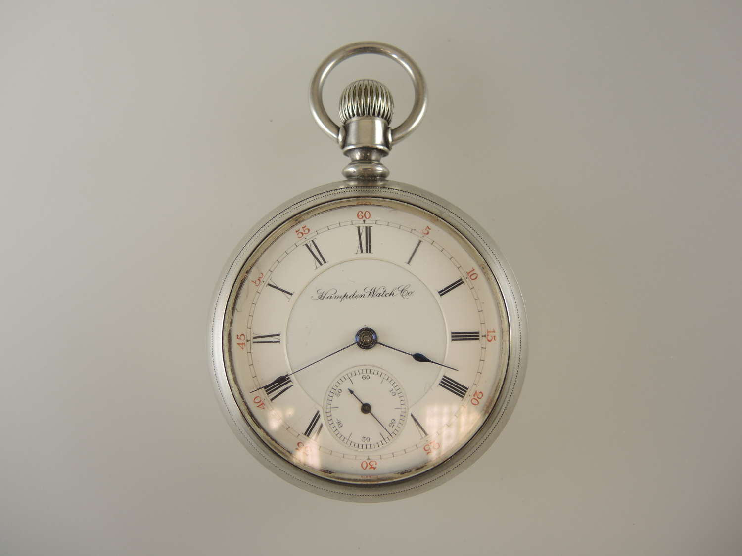 Coin silver 18 size 11 Jewel Hampden pocket watch c1885