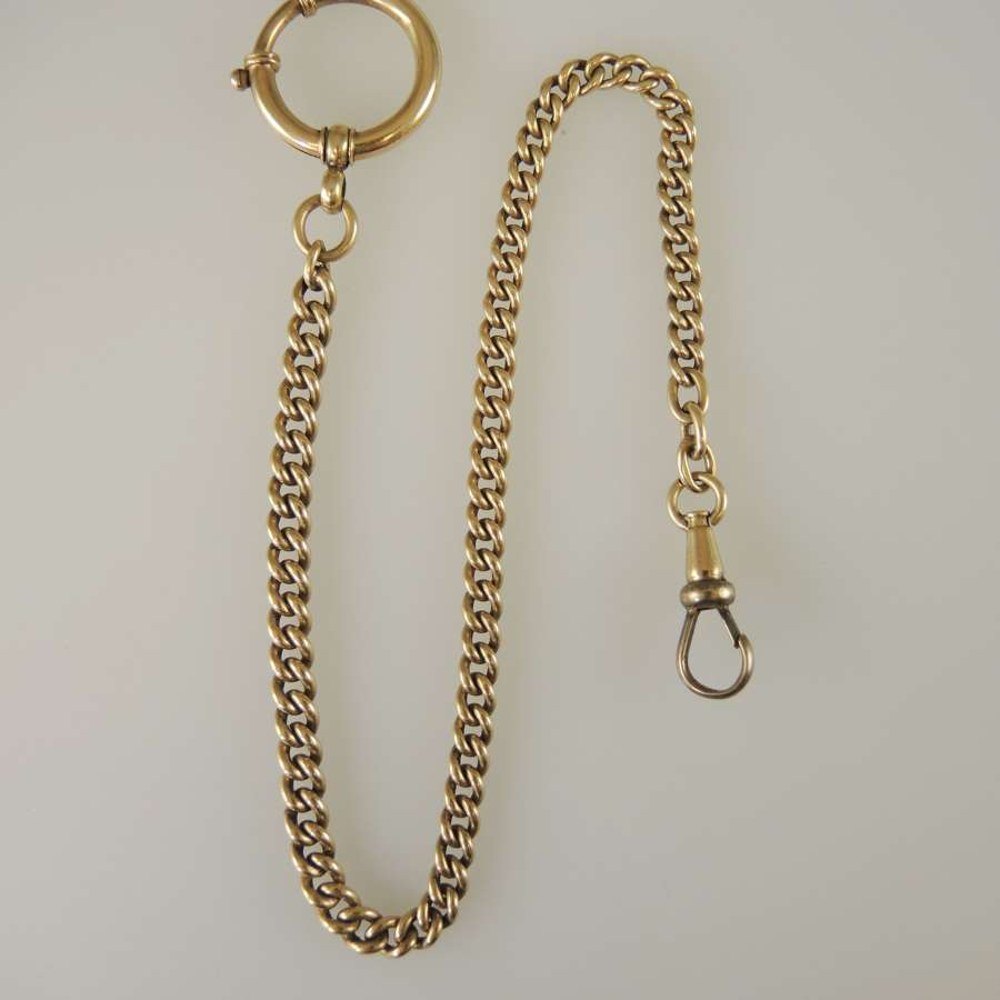 Solid 14K Gold Watch chain c1890