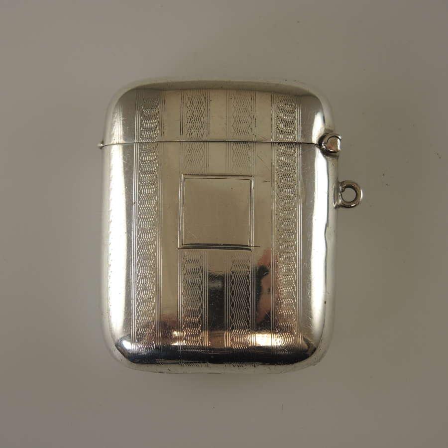 English silver VESTA Birmingham 1902