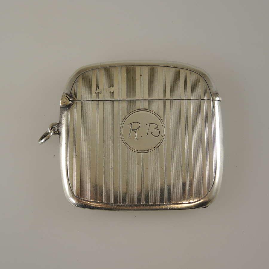 English silver VESTA Birmingham 1914