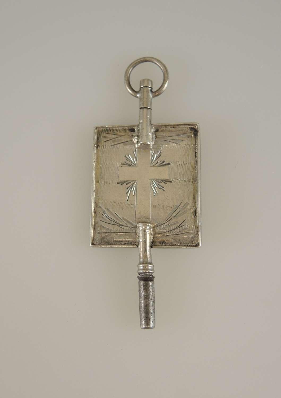 Swedish silver pocket watch key c1850