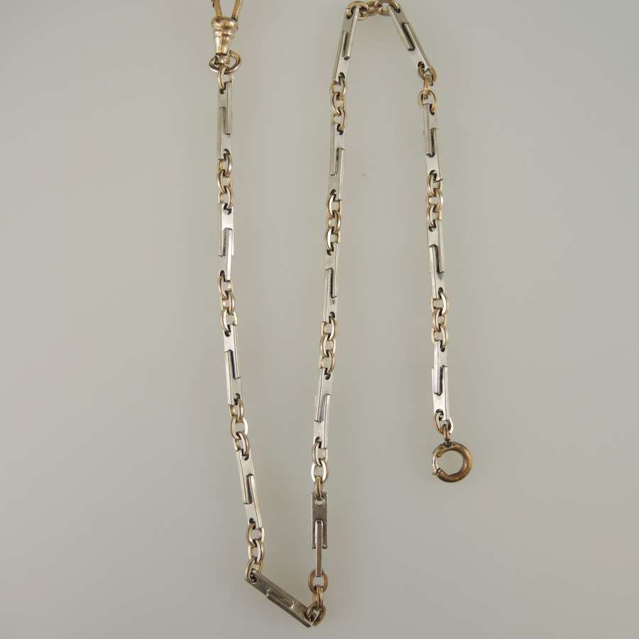 Stylish Art Deco pocket watch chain c1925