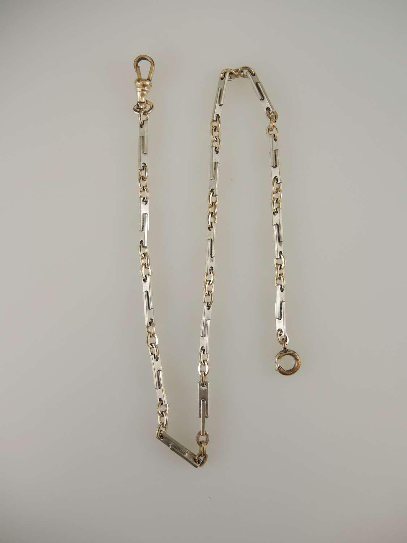 Stylish Art Deco pocket watch chain c1925