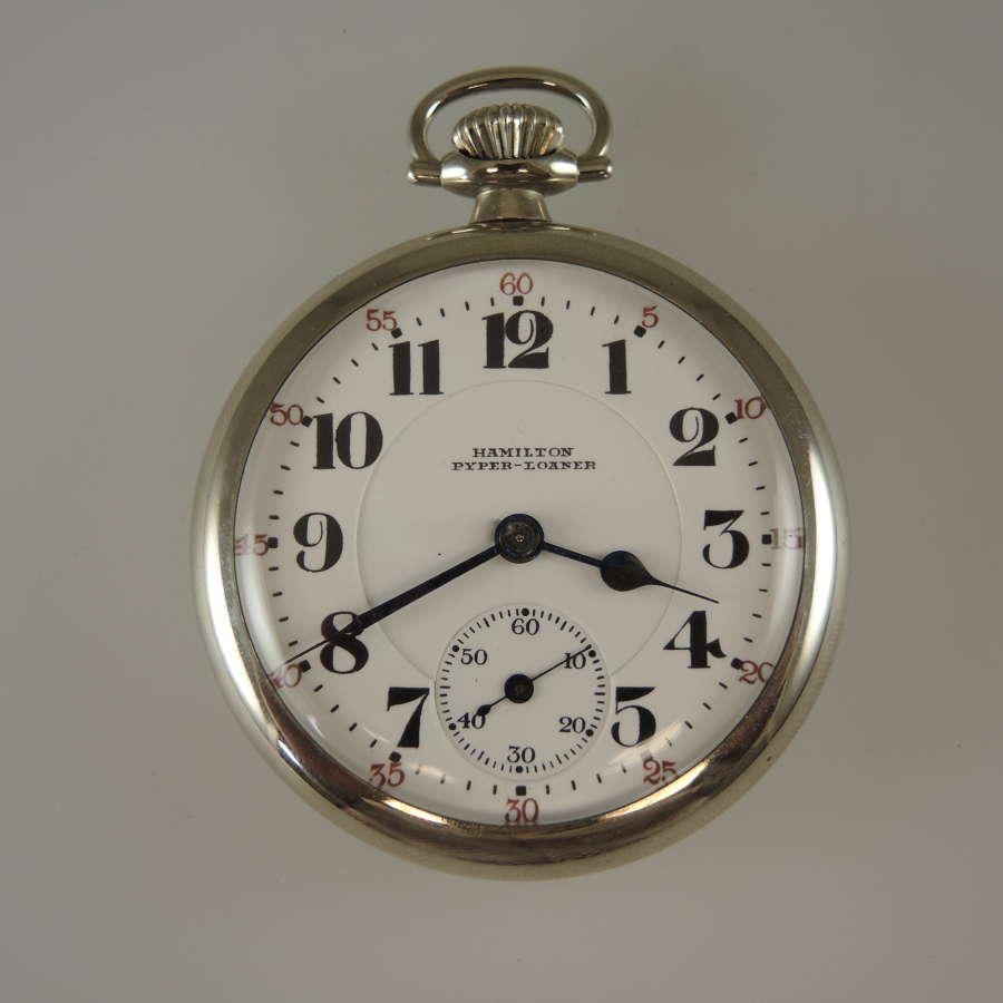 Rare Hamilton Pyper Watch Co LOANER Pocket watch c1923