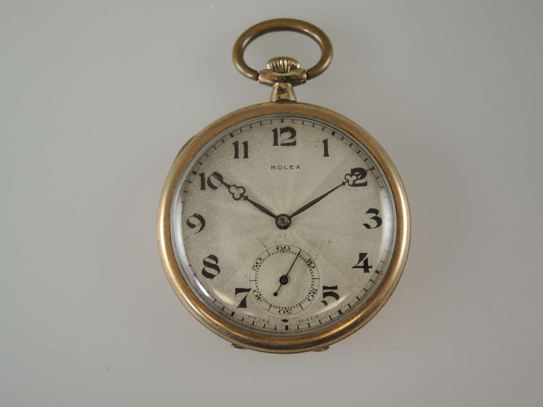 Vintage Triple signed 15J ROLEX Pocket watch c1910