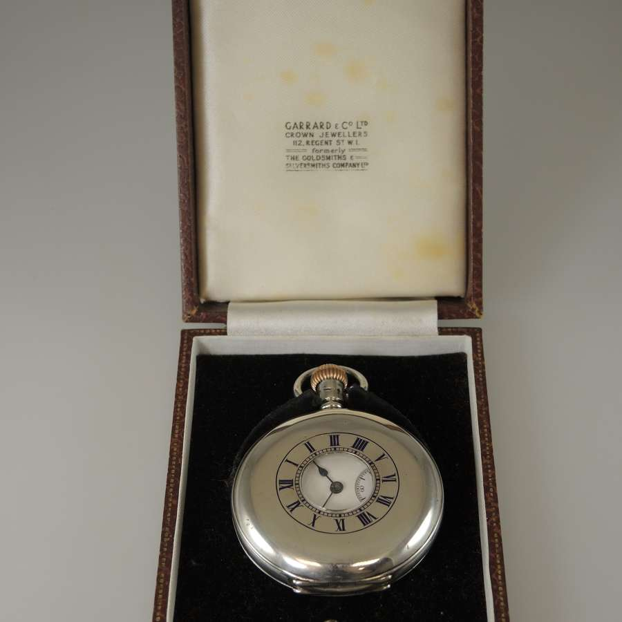 English silver half hunter pocket watch c1912