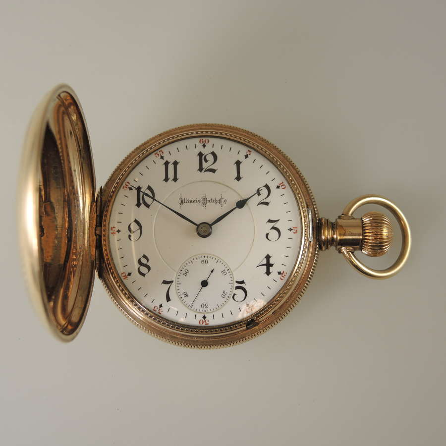 18 size 21J Two Tone Illinois Bunn Special hunter pocket watch c1898