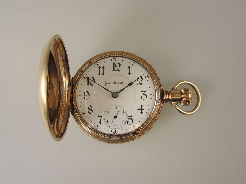 18 size 21J Two Tone Illinois Bunn Special hunter pocket watch c1898