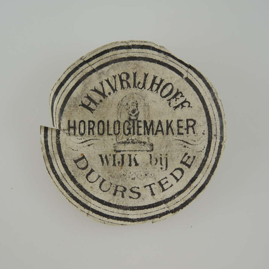 Dutch advertising watch paper c1880