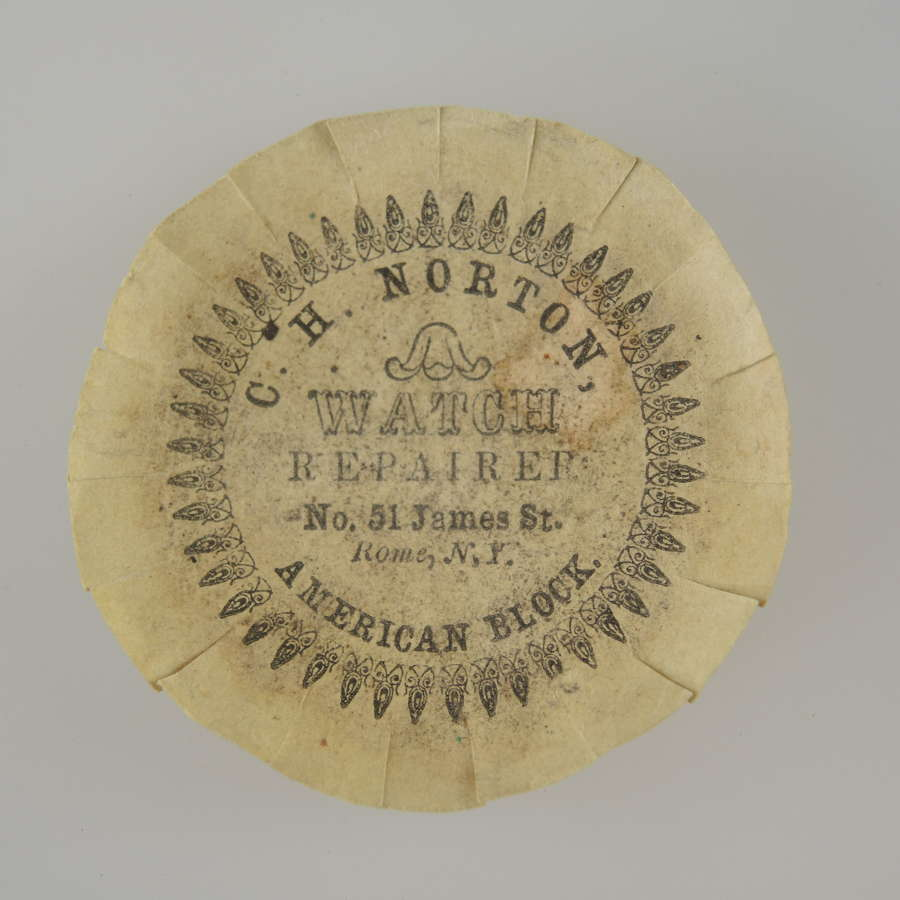 American advertising watch paper, ROME, NY c1850