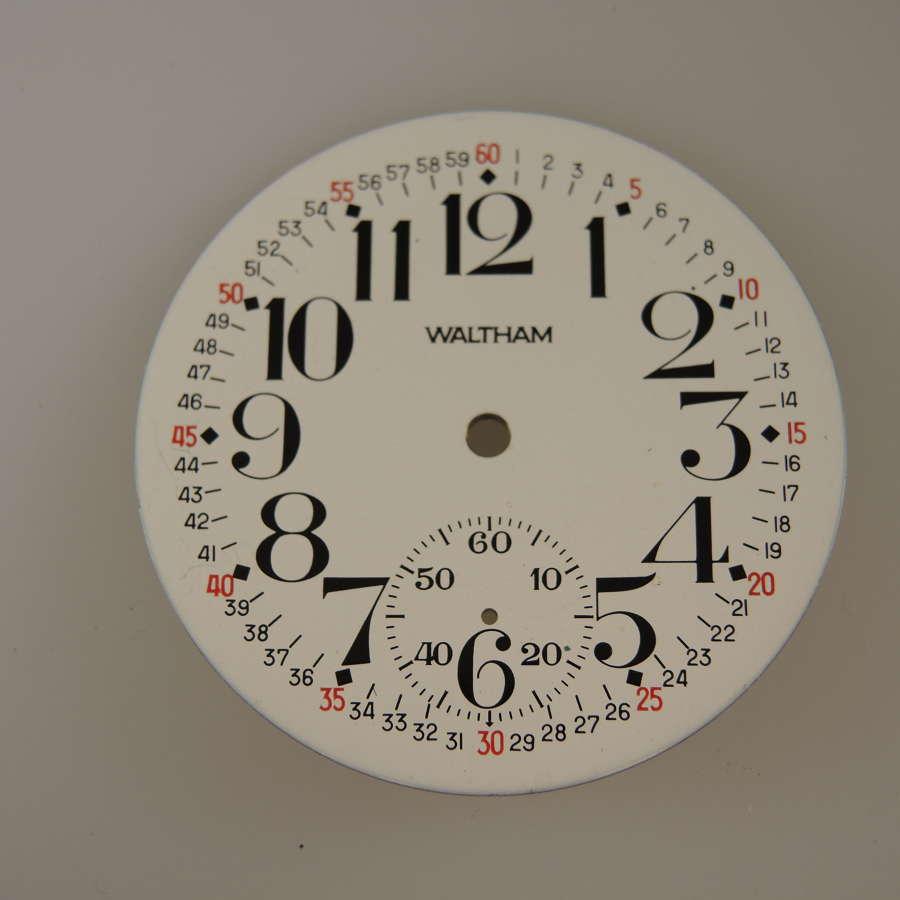 18s Waltham pocket watch dial