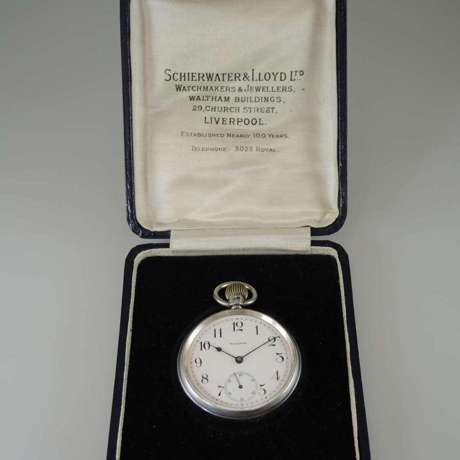 Very rare 16s 23J Waltham Bridge movement pocket watch c1900