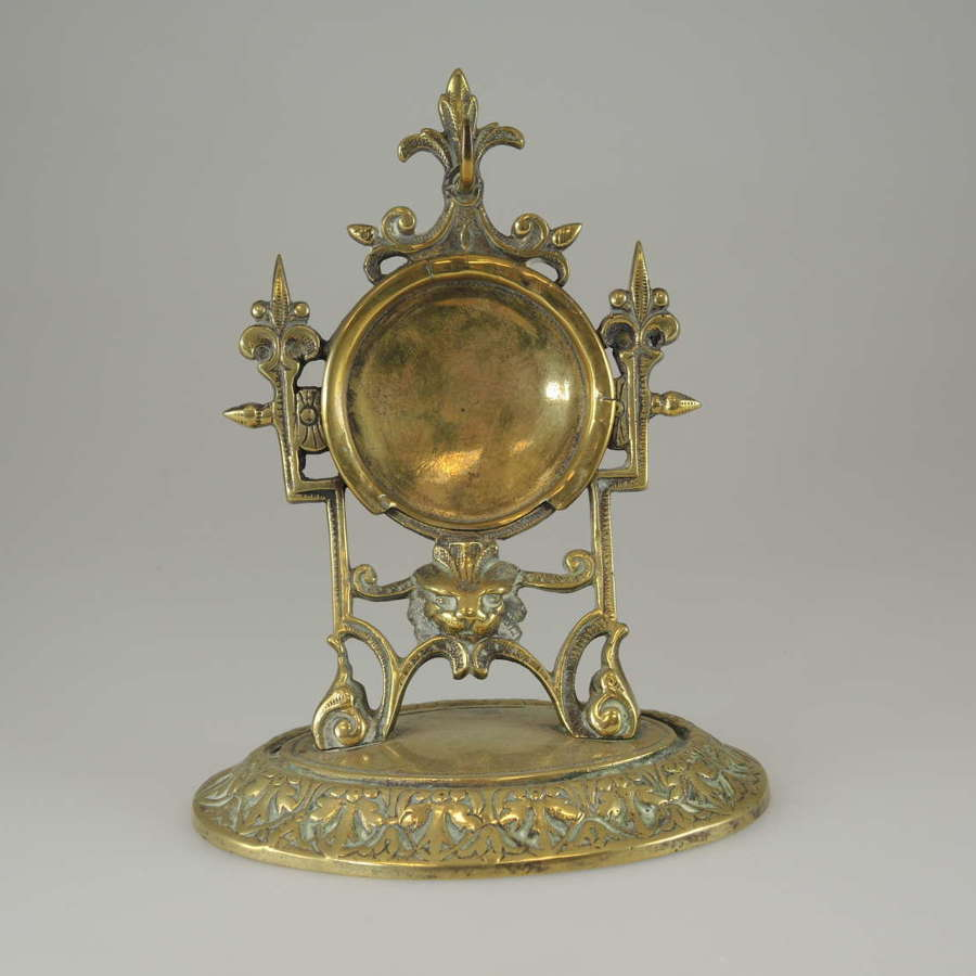 Fancy gilt pocket watch stand c1890