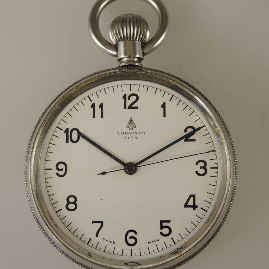 Mint Longines Military pocket watch c1940