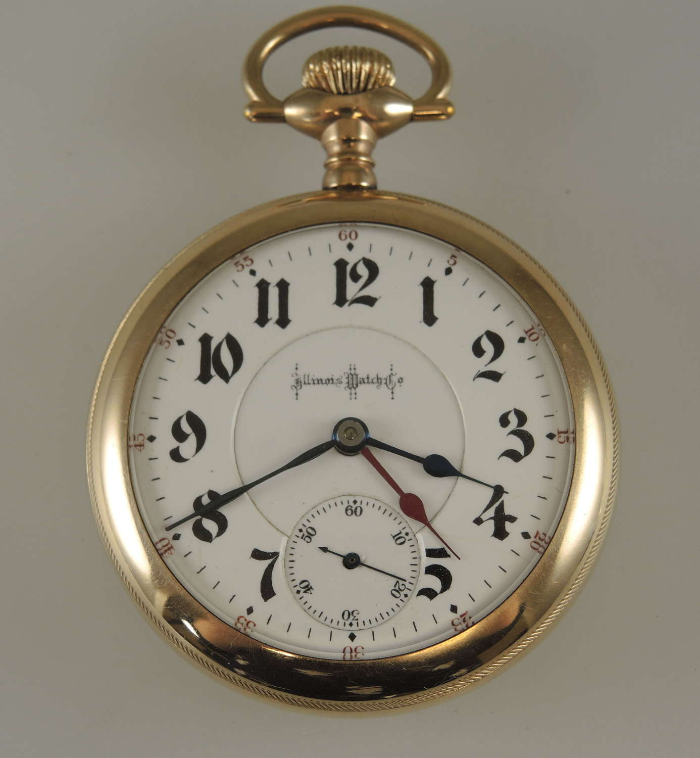 18s 24J Illinois Bunn Special pocket watch & two time zone hands c1904