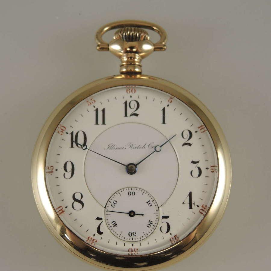 Rare 16s 23J Illinois pocket watch Grade 174 c1910