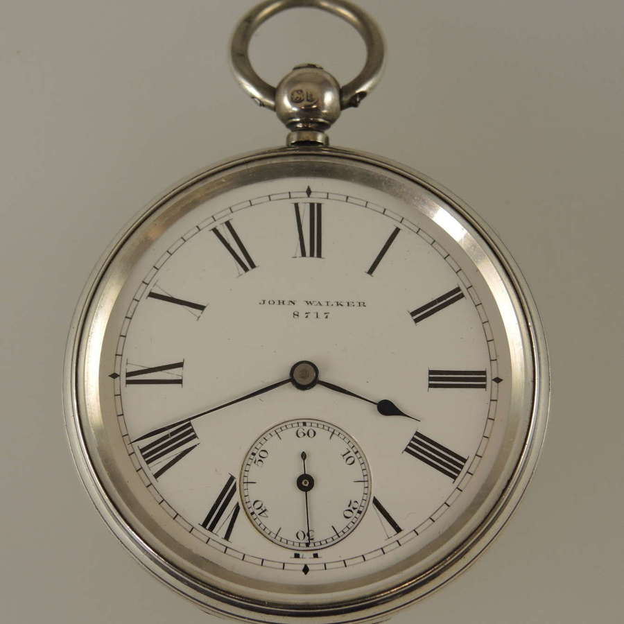 Antique English silver fusee pocket watch by Walker. London 1868