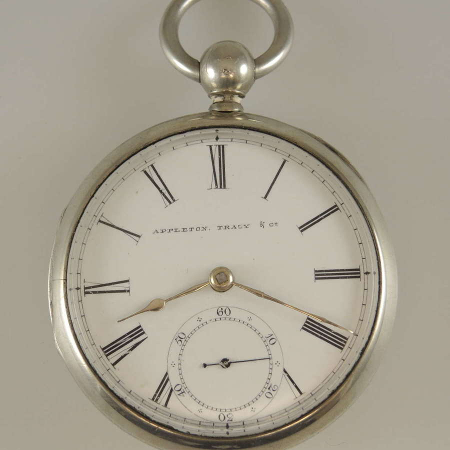 PRE CIVIL WAR 18s Waltham PINNED plate movement pocket watch c1858